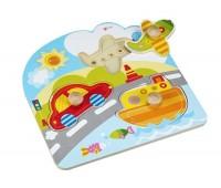 Детски пъзел с превозните средства