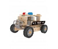 Дървен конструктор - Полицейски автомобил