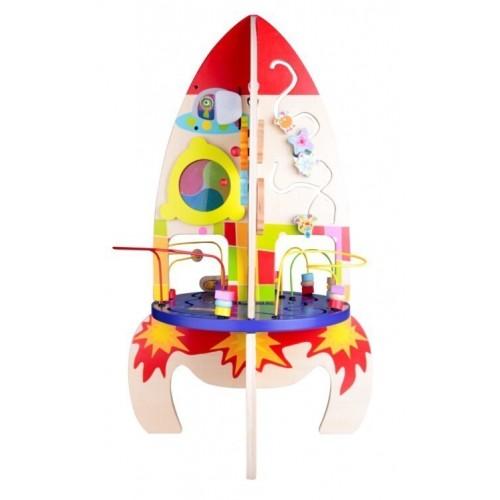 Детска дървена играчка ракета