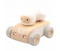Детска дървена количка - Космонавт