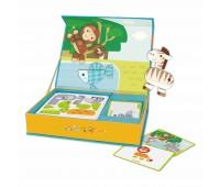 Детска играчка за пътуване с магнитни фигури - горски животни