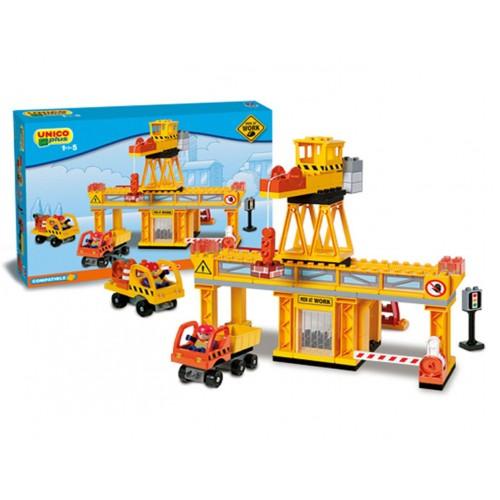 Детски конструктор - строителна площадка, Unico