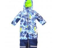 Детски зимен спортен екип Космонавт, Синьо-бял