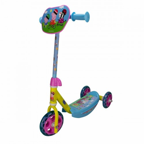 Детска тротинетка с 3 гуми - Прасето Пепа