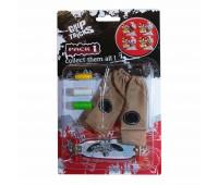 Комплект играчка за пръсти LONG BOARD, сив, с надписи
