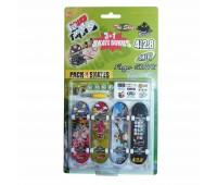 Комплект играчки за пръсти с 4 бр. скейтборди