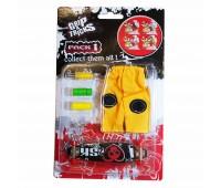 Комплект играчка за пръсти LONG BOARD, черен, с череп