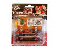 Комплект играчки за пръсти с 3 бр. скейтборди