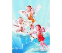 Пъзел Gold Puzzle от 1000 части - 3 малки ангелчета