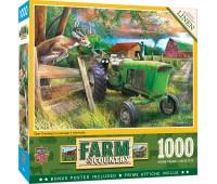 Пъзел Master Pieces от 1000 части - Еленът и фермата