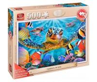 Пъзел King от 500 XXL части - Костенурки в морето, Стив Съндрам