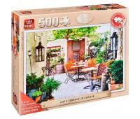 Пъзел King от 500 XXL части - Европейско кафене с тераса