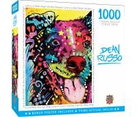 Пъзел Master Pieces от 1000 части - Плезещо се куче