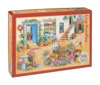 Пъзел Cobble Hill от 275 части - Изискан магазин за цветя, Жанет Кръскемп