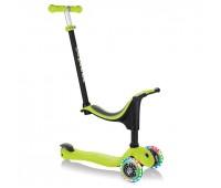 Тротинетка Globber 4 в 1 със стабилизатор, GO UP Sporty Lights - Зелена