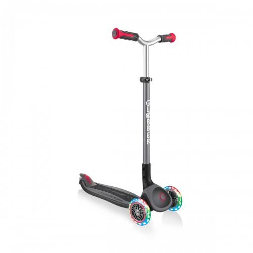 Тротинетка с 3 колела Globber Master Lights, черно-червена