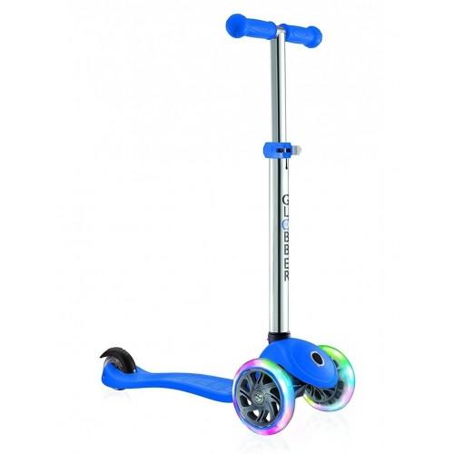 Тротинетка за деца Primo Lights със светещи гуми и регулируема височина - Синя