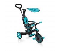 Детска триколка 4 в 1, Globber Trike Explorer синьо-зелена