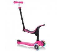 Тротинетка Globber 4 в 1 със стабилизатор, GO UP Sporty Lights - Розова