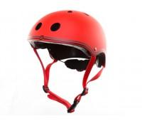 Цветна каска за колело и тротинетка, 51-54 см - Червена