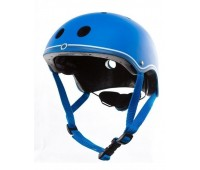 Цветна каска за колело и тротинетка, 51-54 см - Синя