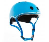 Цветна каска за колело и тротинетка, 51-54 см - Светло синя