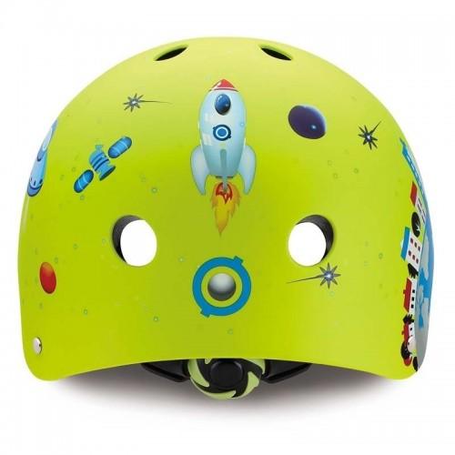Детска каска за колело и тротинетка, Зелена