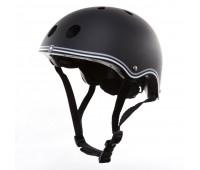Цветна каска за колело и тротинетка, 51-54 см - Черна