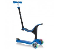 Тротинетка Globber 4 в 1 със стабилизатор, GO UP Sporty Lights - Синя